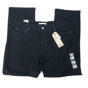 Levi's 505 Straight Womens Jeans Black Mid Rise